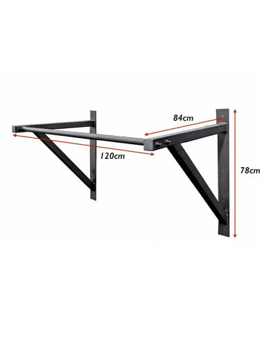 Wide Grip Wall Mounted Pull Up Bar