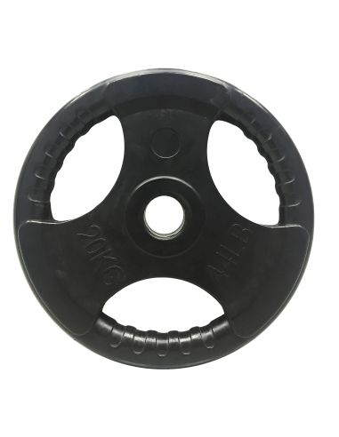 Tri Grip Rubber Encased Weight Plates (Olympic)