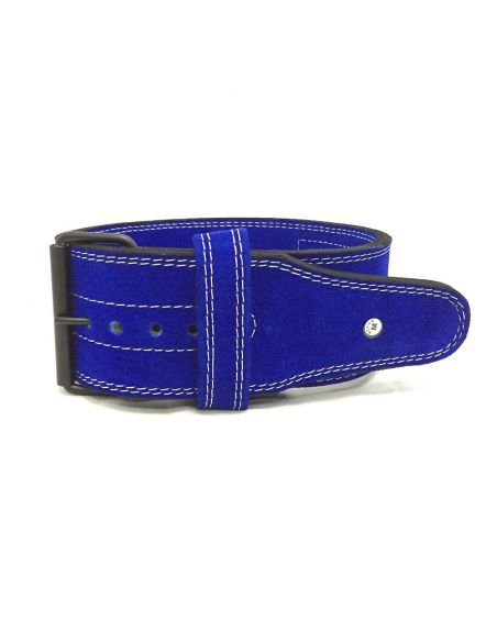 Suede Leather Powerlifting Belt 4 inch (10mm) - Single Prong