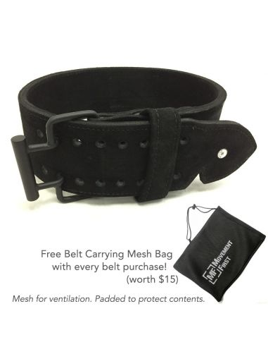 MF Premium Suede Leather Quick Release Belt  (with free mesh bag)