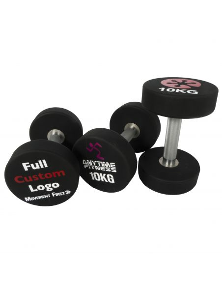 Professional PU Dumbbell with Customized Logo